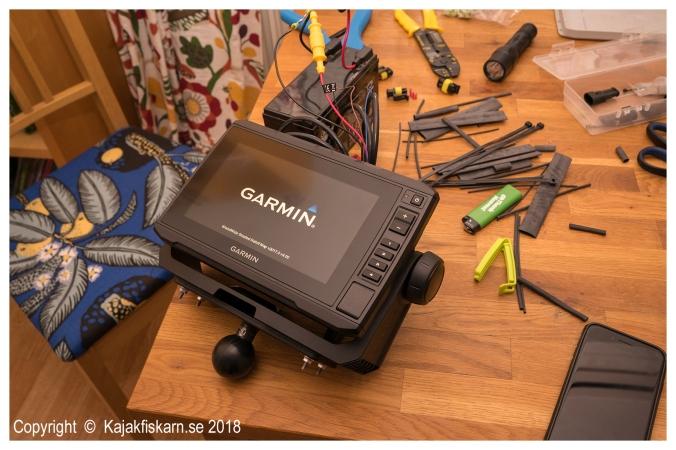 Garmin EchoMap Plus 72cv uppstartstest